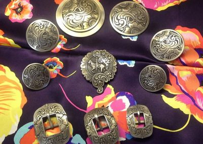 Conchos-Buckles-Horn Caps by John Mincer